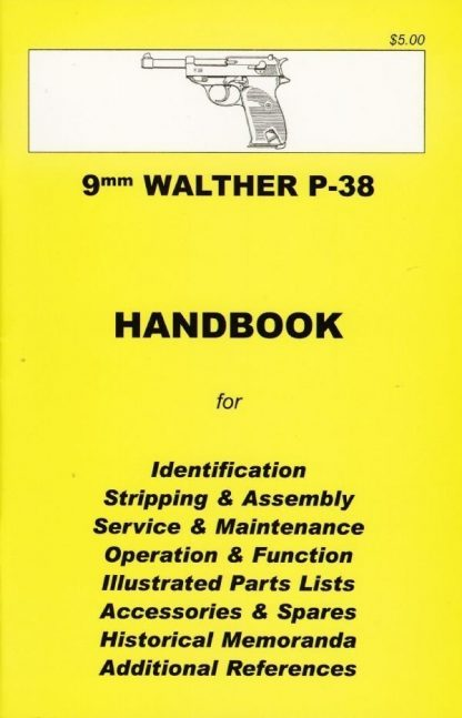 No.20 9mm Walther P-38 Pistol 'YHB'