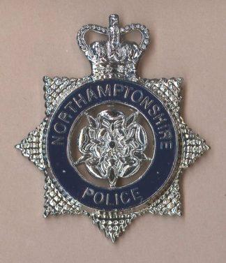 NORTHAMPTONSHIRE POLICE QC blue ring Star c/badge