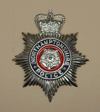 NORTHAMPTONSHIRE POLICE QC Chrome blue ring red ce