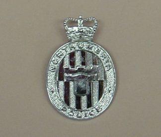 NORTHUMBRIA POLICE QC chrome cap badge