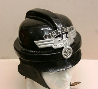 N.S.K.K. HELMET - MOTORCYCLIST LEATHER HELMET