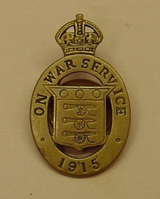 ON WAR SERVICE 1915 -  Munition Workers lapel badge