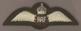 ROYAL AIR FORCE KC machine embroidered Pilots Wing