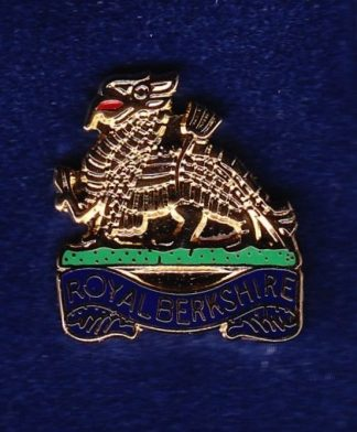 ROYAL BERKSHIRE lapel badge CAP BADGE enamel