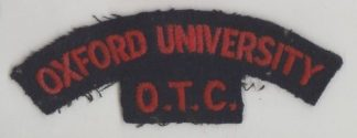 OXFORD UNIVERSITY O.T.C. cloth s/t red/dark blue