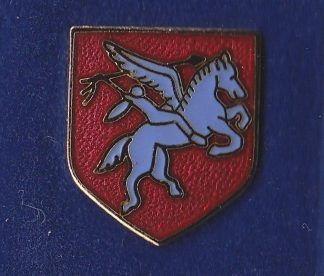 Parachute Brigade Lapel Badge, Gilt and Enamel Pegasus Shield