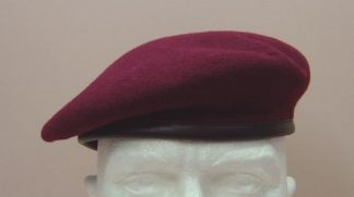 PARACHUTE REGIMENT  BERET - Maroon, leather band and adjustable draw-tape
