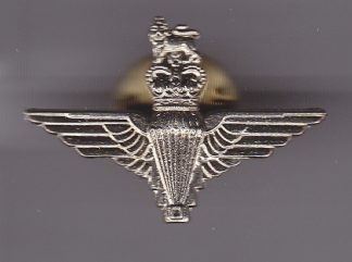 Parachute Regiment Lapel Badge, Nickel Cap Badge QC