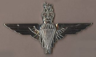PARACHUTE REGIMENT QC - silver plate beret badge