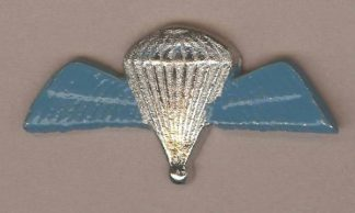 PARACHUTE WINGS cast nickel plate BLUE