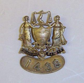 PHILADELPHIA POLICE Breast badge, gilt and blue en