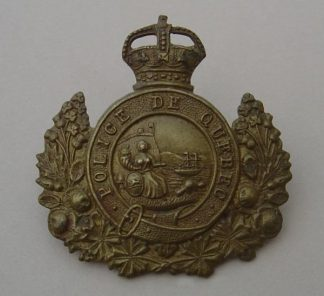 POLICE DE QUEBEC KC bronze cap badge