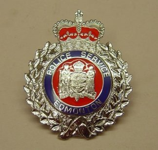 POLICE SERVICE EDMONTON QC chrome, blue and red en