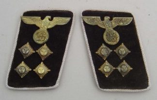 POLITICAL SERVICE COLLAR PATCHES pair