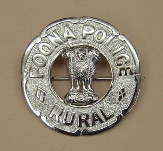 POONA RURAL POLICE - PIPER'S PLAID BROACH chrome