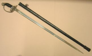 PRUSSIAN INFANTRY OFFICERS SWORD in scabbard