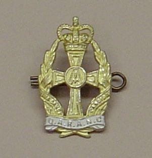 Q.A.R.A.N.C. QC Officer's Gilt and sil. pl. c/b
