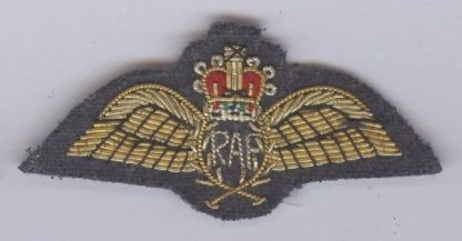 R.A.F. BULLION wire PARACHUTISTS Dress wings