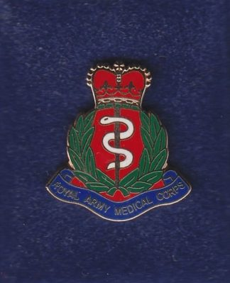 RAMC lapel badge CAP BADGE enamel QC