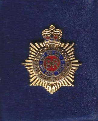 RASC lapel badge CAP BADGE enamel QC
