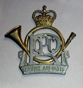 R.C.P.C ROYAL CANADIAN POSTAL CORPS or's bi-m c/b