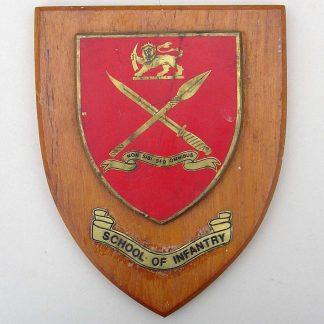 RHODESIA SCHOOL OF INFANTRY - NON SIBI SED OMNIBUS wall plaque