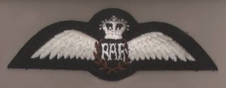 ROYAL AIR FORCE QC machine embroidered Pilots Wing