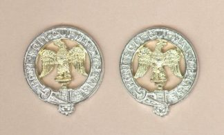 ROYAL ANGLIAN REGIMENT a/a collar dogs, pair