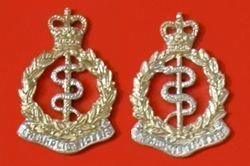 ROYAL ARMY MEDICAL CORPS a/a collar dogs, pair