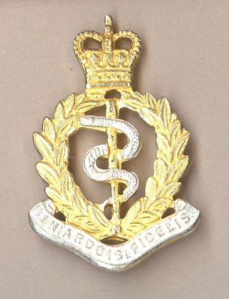 ROYAL ARMY MEDICAL CORPS QC gilt, and silver plate
