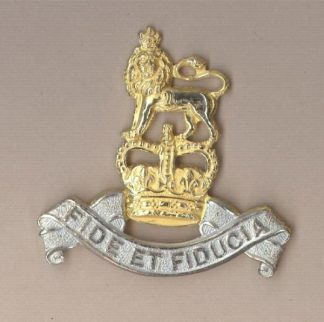 ROYAL ARMY PAY CORPS QC Large, gilt & silver plate