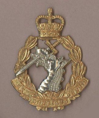 ROYAL ARMY VETINARY CORPS QC bi-metal cap badge