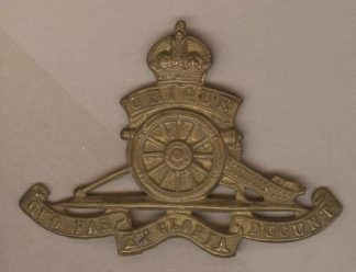 ROYAL ARTILLERY KC 'SOLID STRIKE' g/m cap badge