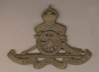 ROYAL ARTILLERY 'TERRITORIAL' KC g/m cap badge