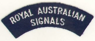 ROYAL AUSTRALIAN SIGNALS cloth s/t