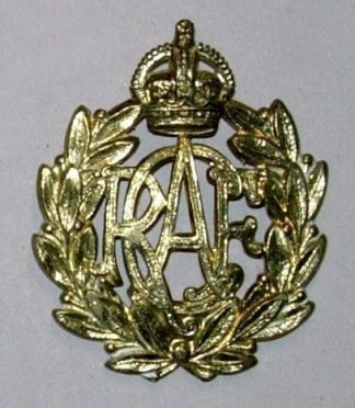 ROYAL CANADIAN AIR FORCE KC OR's cap badge g/m