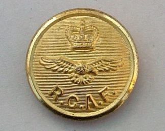 ROYAL CANADIAN AIR FORCE QC 25mm No.1's gilt buttn