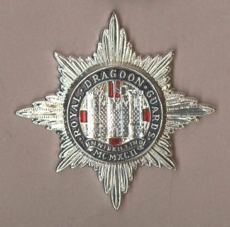 ROYAL DRAGOON GUARDS silver/enamel a/a or's c/b