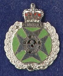ROYAL GREEN JACKETS lapel CAP BADGE enamel