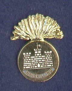 ROYAL INNISKILIING FUSILIERS - LAPEL BADGE