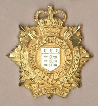 ROYAL LOGISTIC CORPS QC OR's gilt and Sil.Plate