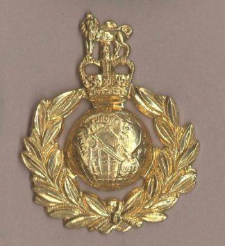 ROYAL MARINES QC bright gilding metal Beret badge