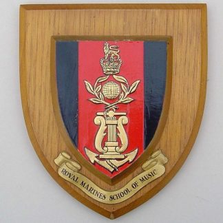 ROYAL MARINES SCHOOL OF MUSIC wall plaque
