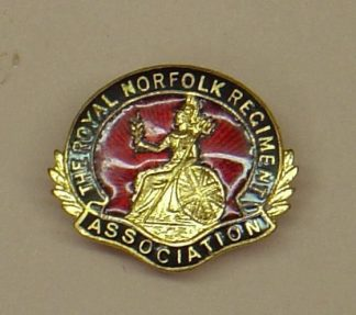 ROYAL NORFOLK ASSOCIATION gilt, red, blue enamel