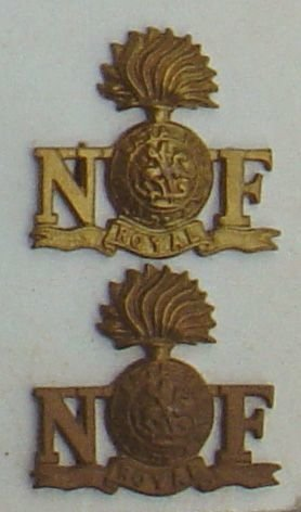 ROYAL NORTHUMBERLAND FUSILIERS g/m small pair or's