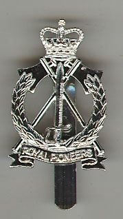 ROYAL PIONEER CORPS QC a/a Cap Badge 2nd type