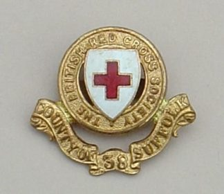 ROYAL RED CROSS '38 COUNTY OF SUFFOLK' gilt/enamel