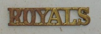 ROYALS brass shoulder title