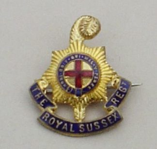 ROYAL SUSSEX REGIMENT gilt and two enamels