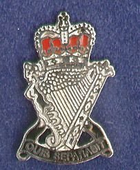 ROYAL ULSTER RIFLES lapel badge CAP BADGE enamel